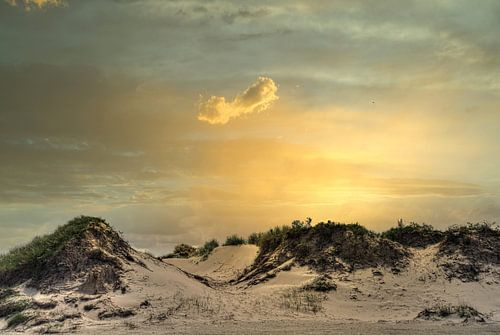 Zonsondergang duinen Slufter Texel