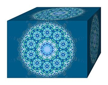 Blooming Block (Blue) van Caroline Lichthart