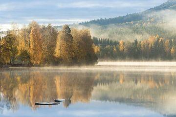 Herfstkleuren aan een Zweeds meer van Mindy Molein
