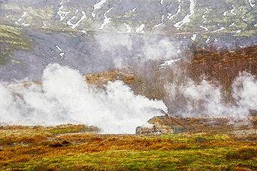 Geysir, IJsland van Frans Blok