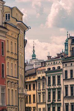 Malerische Straße in Krakau, Polen von Nynke Nicolai