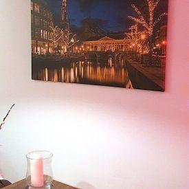Photo de nos clients: Golden light of Leiden sur Erik Brons, sur toile
