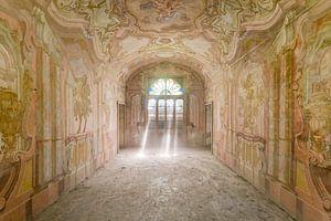 Zonnestralen in kasteelkamer