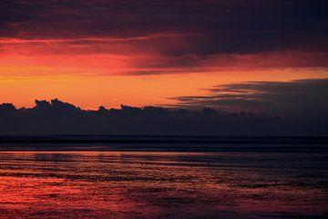 Wad bij zonsondergang sur Rinnie Wijnstra