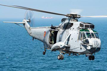 Sea King helikopter van de Spaanse Marine van Kris Christiaens
