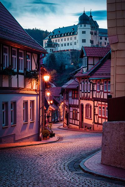 Avond in Stolberg (Harz) van Martin Wasilewski