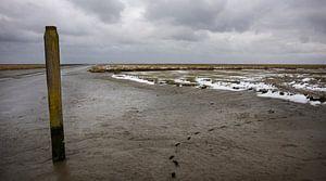 Het haventje van Noordpolderzijl in de winter