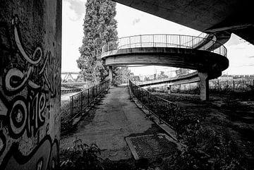 Charleroi - Verlaten Fietsviaduct von Maarten de Waard