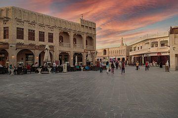 Souk Waqif in Doha Katar Hauptstraße von Mohamed Abdelrazek