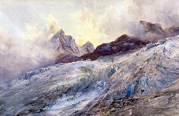 Finsteraarhorn, EDWARD THEODORE COMPTON, 1903 von Atelier Liesjes