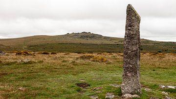 Menhir in Dartmoor van Dick Doorduin