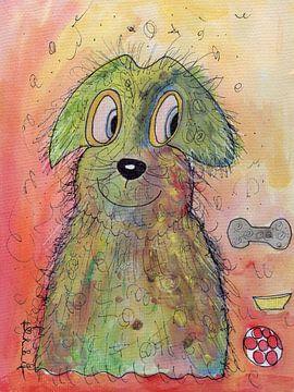 Hund bunt sur Katrin Behr