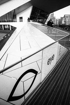 Voorkant Eye Amsterdam Zwart-Wit von PIX URBAN PHOTOGRAPHY