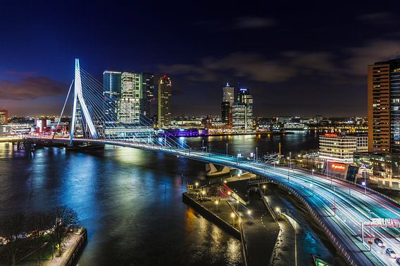 Skyline Rotterdam aan de Maas van Rob van der Teen