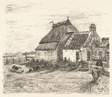 Ameland, Hütten bei Nes, Otto Hanrath, 1925