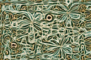 Smaragd, flower fly series van GOOR abstracten