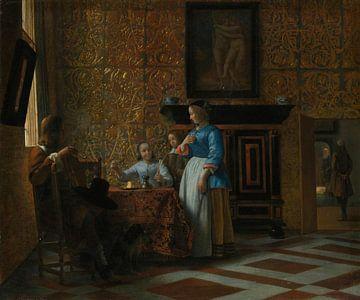 Freizeit in eleganter Umgebung, Pieter de Hooch