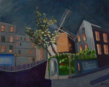Mühle de la Galette von Antonie van Gelder Beeldend kunstenaar