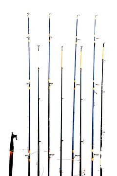 fishing rods sur Yvonne Blokland