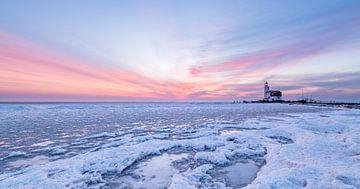 Het Paard van Marken - winter & ijs  van Henk Verheyen