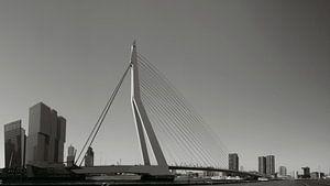Panorama Erasmusbrug zwart/wit