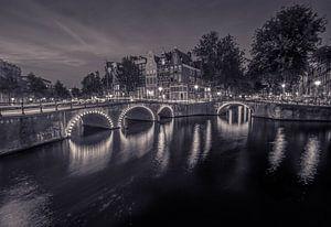 Amsterdam in zwart wit van
