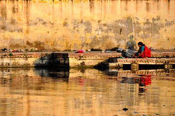 Wassen in het meer van Thea Oranje