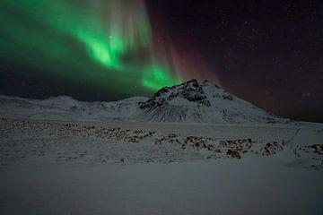 Polarlicht auf Island, das Nordlicht. von Gert Hilbink