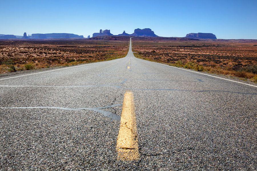 The road to monument valley van Fotografie Egmond