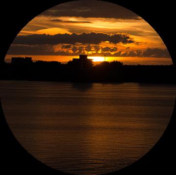 Zonsondergang zomer 2017 Hoornse Hop van Erik van Riessen