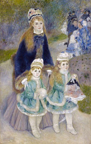 Spaziergang - Pierre-Auguste Renoir von 1000 Schilderijen