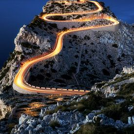 Far de Formentor Leuchtturm am Cap Formentor auf Mallorca abends nachts von Daniel Pahmeier