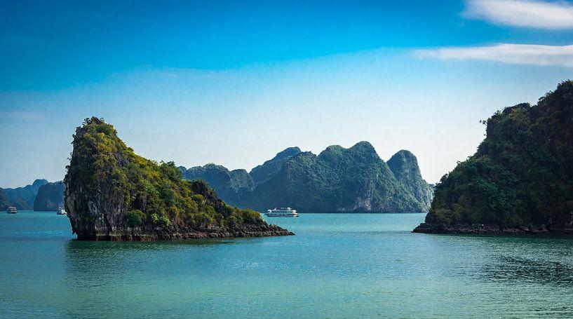 Rotsen in Halong Bay, Vietnam van Rietje Bulthuis