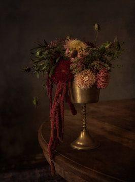 Stilleven met Herfst Bloemen van Guna Andersone