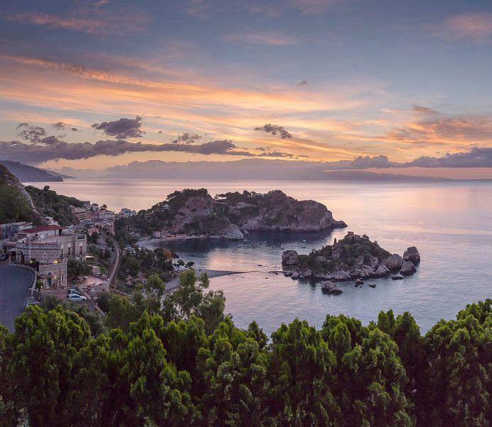 Isola Bella, Taormina, Sicilia - Sicily, Italië van Rene van der Meer