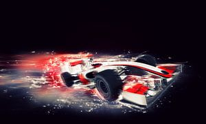 F1 formule 1 auto met speciaal snelheidseffect van Natasja Tollenaar