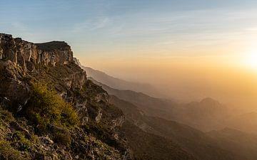 Sonnenuntergang in den Bergen von Jeroen Kleiberg