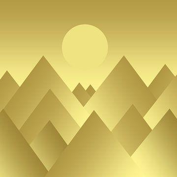Gouden bergen van Violetta Honkisz