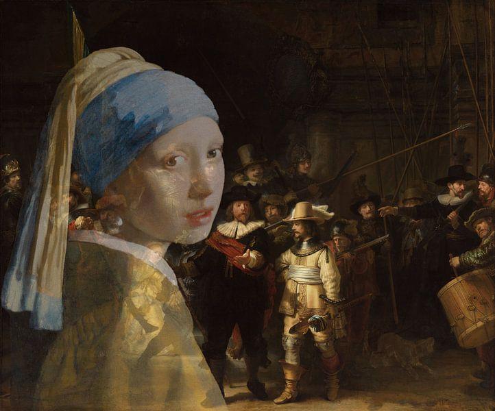 Meisje met de parel bezoekt de nachtwacht van Eigenwijze Fotografie