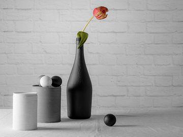 Wit, grijs, zwart en simpel. van Danny de Jong