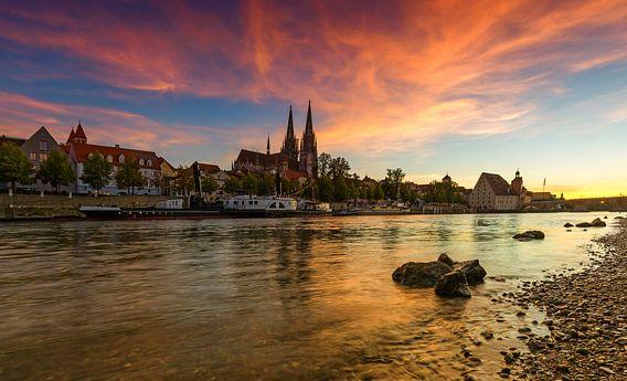Regensburgse zonsondergang