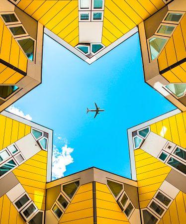 Symmetrische Würfelhäuser von Yannick Karnas