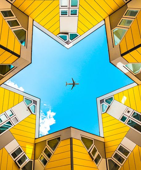 Symmetrische kubuswoningen