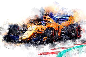 Fernando Alonso 2018 von Theodor Decker
