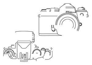 Analoge Camera Silhouet (Nikon FE2-style)