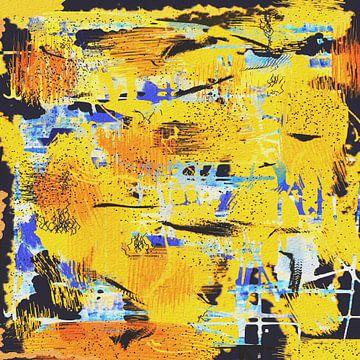 Abstracte schilderkunst - chaos van Christine Nöhmeier