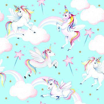 Unicorn op wolkjes van Geertje Burgers