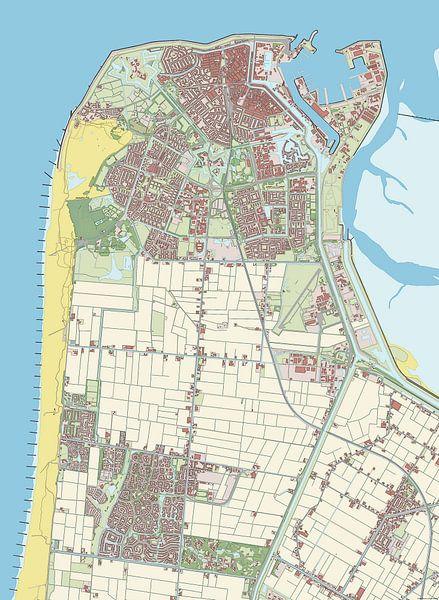 Kaart vanDen Helder