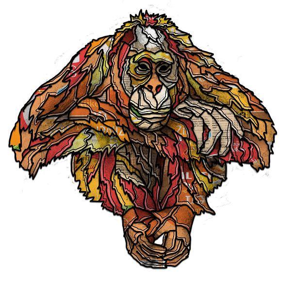 Orang oetan van Ruud van Koningsbrugge