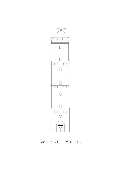 Poster Brandaris Terschelling - Leuchtturm von Studio Tosca